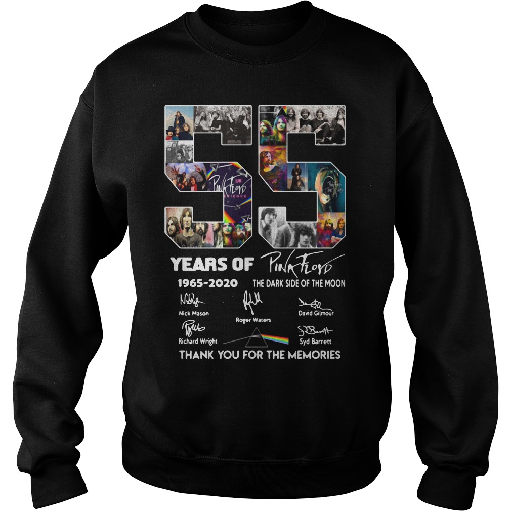 55 Years Of Pink Floyd 1965-2020 thank you for the memories Sweater