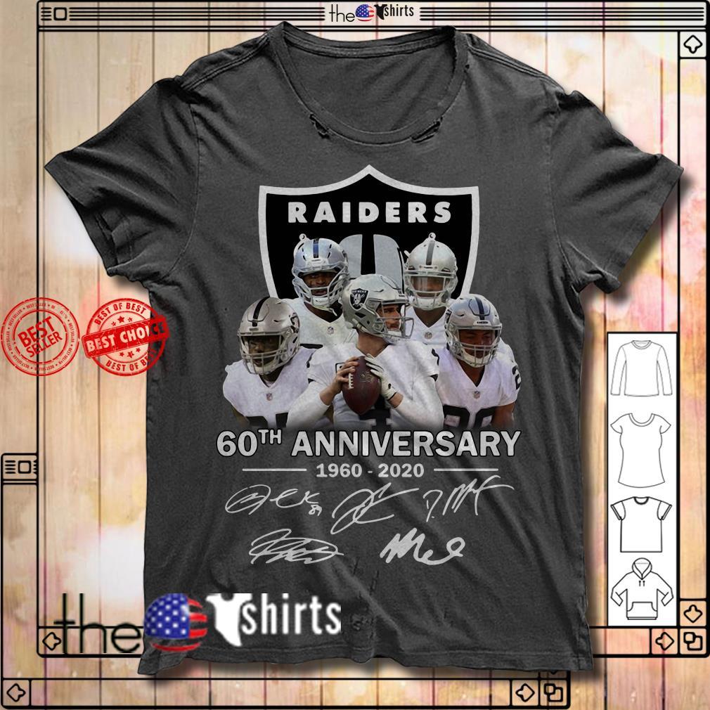 Raiders 60th Anniversary 1960-2020 signature shirt