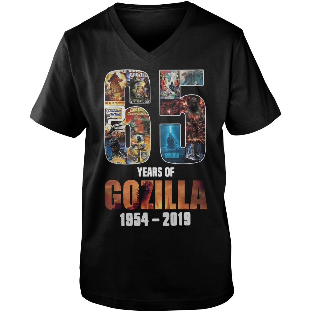 65th Years of Godzilla 1954-2019 thanks for memories Guy V-Neck