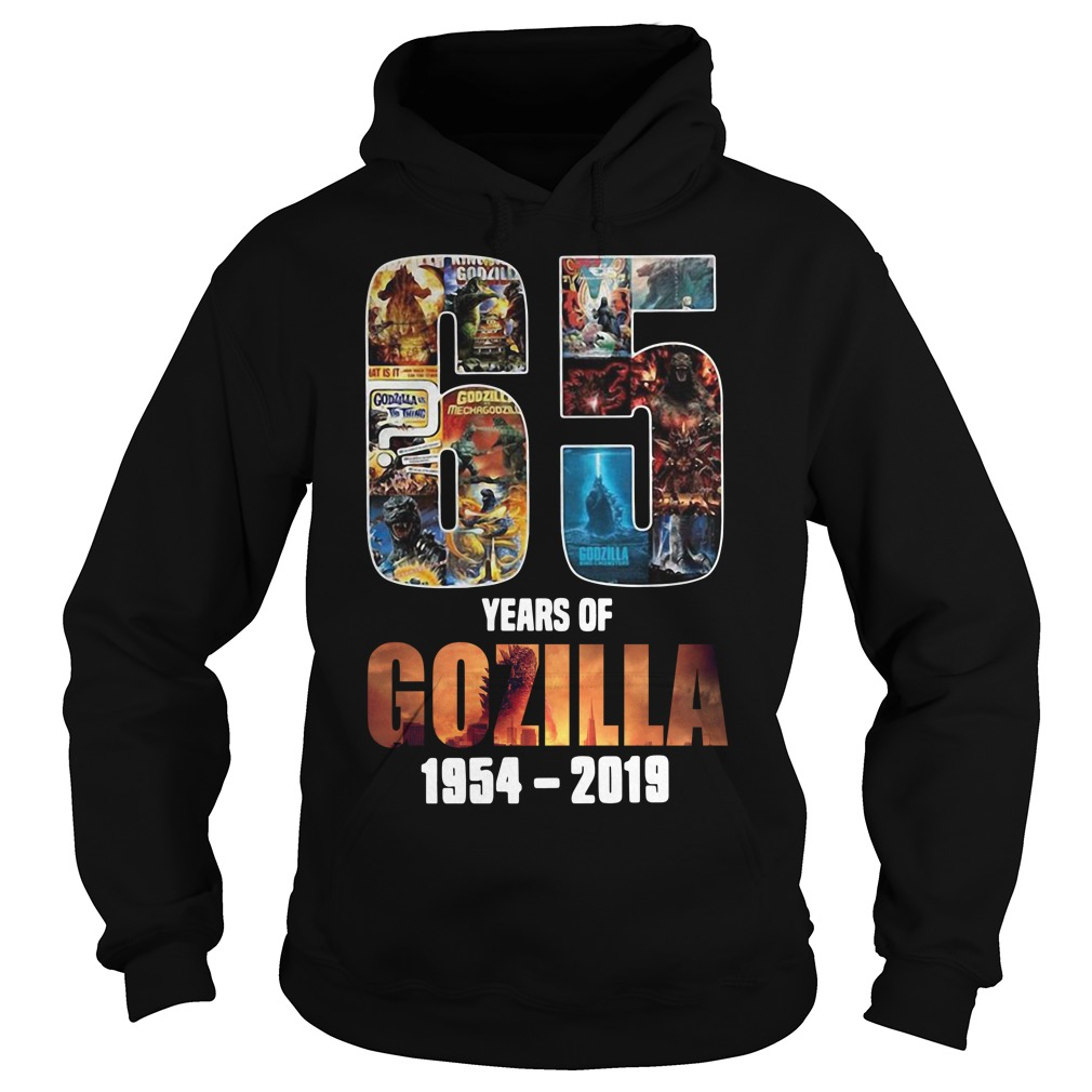 65th Years of Godzilla 1954-2019 thanks for memories Hoodie