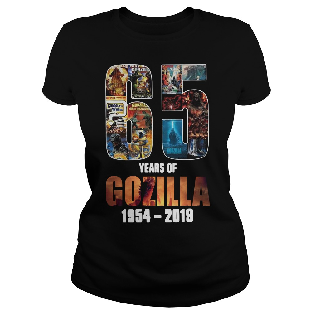 65th Years of Godzilla 1954-2019 thanks for memories Ladies Tee