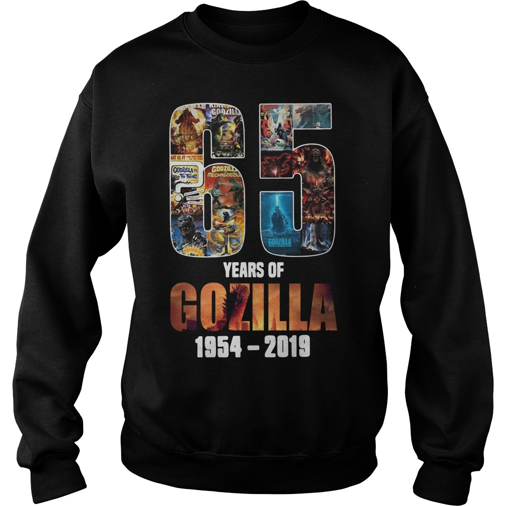 65th Years of Godzilla 1954-2019 thanks for memories Sweater