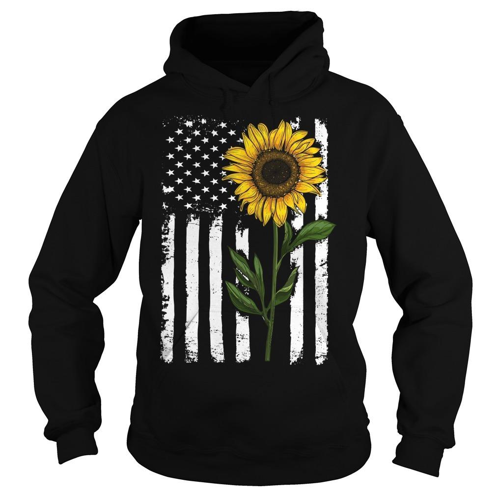 American flag sunflower Hoodie