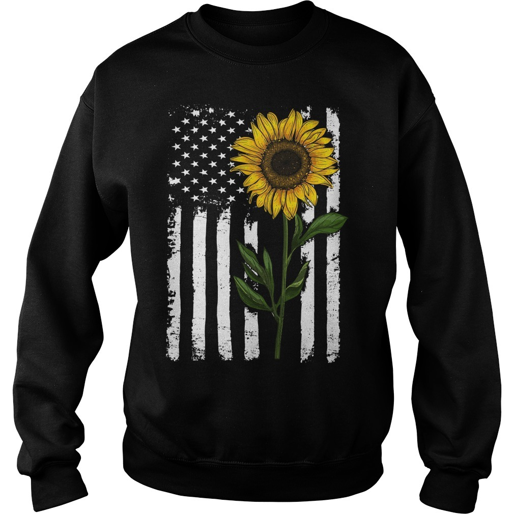 American flag sunflower Sweater