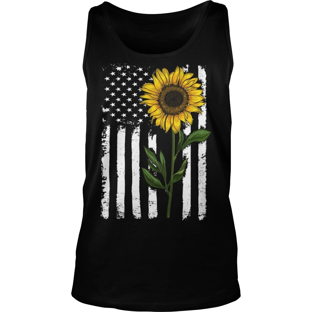 American flag sunflower Tank top