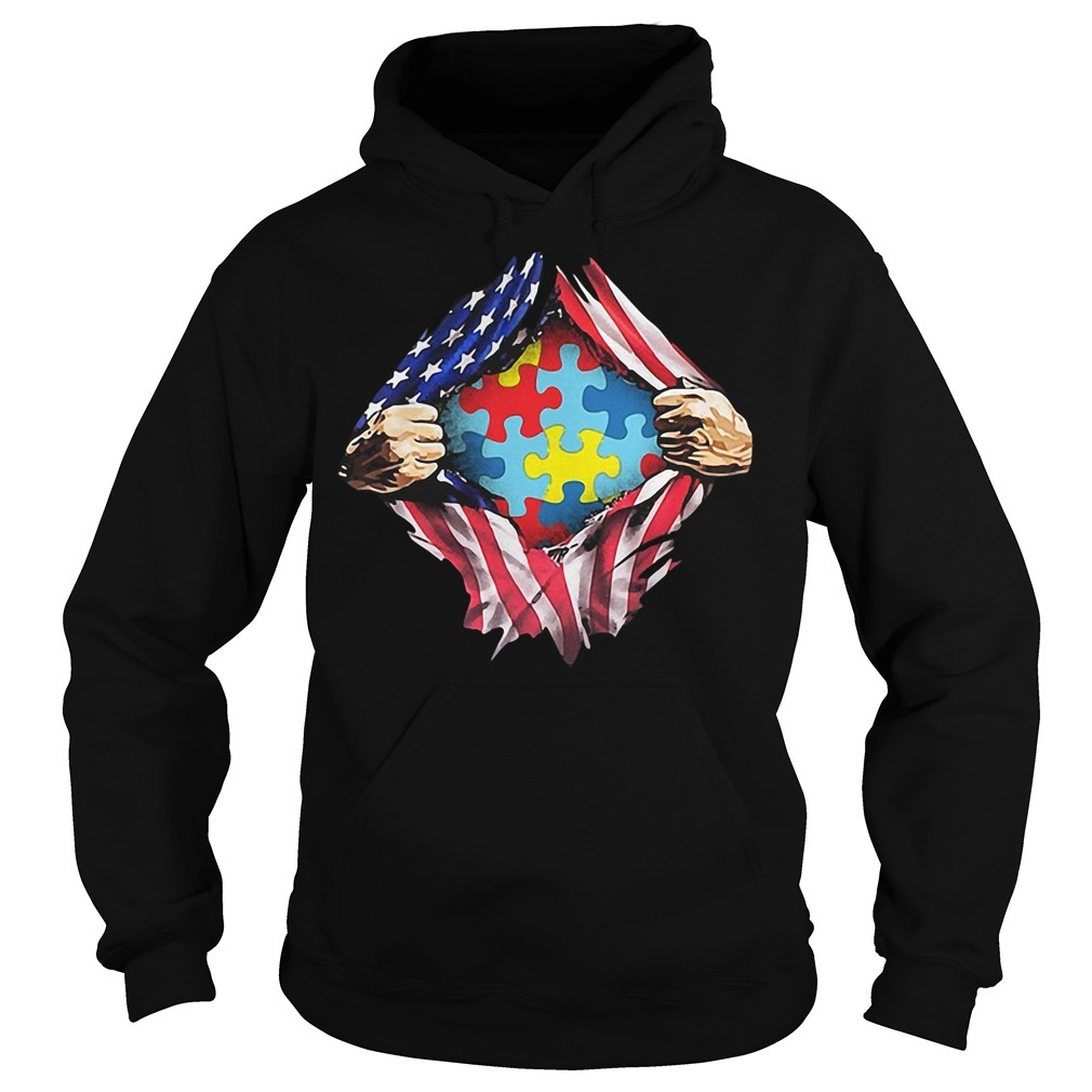 Autism awareness inside me 4th of July independence day Hoodie