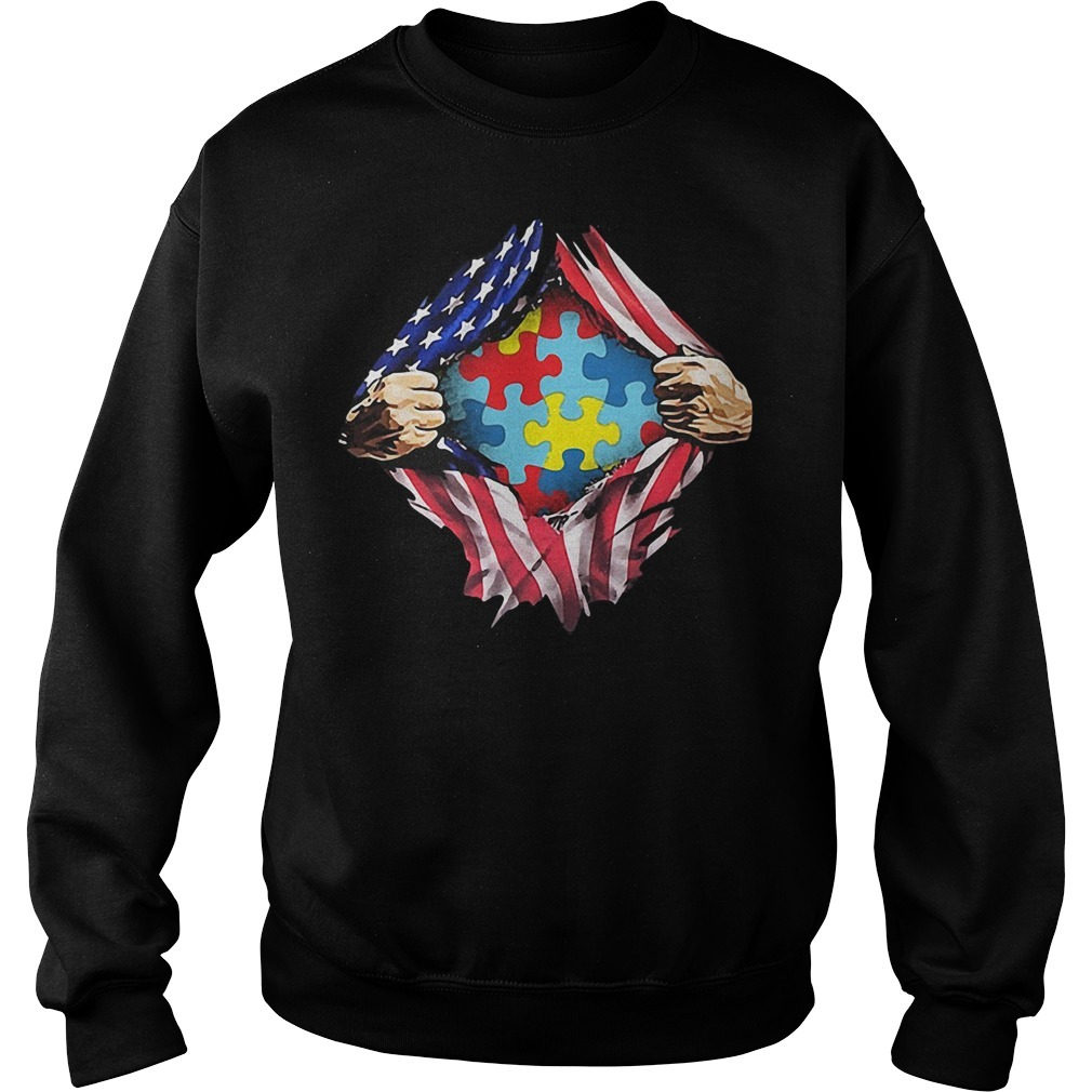 Autism awareness inside me 4th of July independence day Sweater