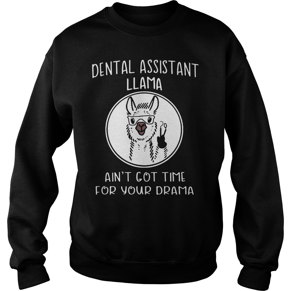 Dental assistant llama ain't got time for your drama Sweater