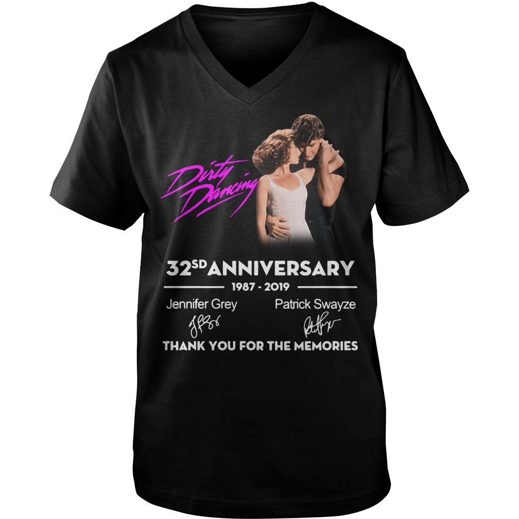 Dirty Dancing 32nd anniversary 1987-2019 signatures Guy V-Neck