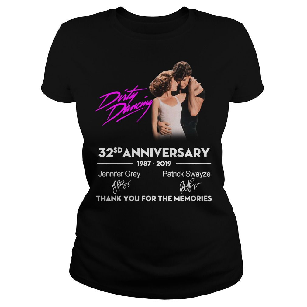 Dirty Dancing 32nd anniversary 1987-2019 signatures Ladies Tee