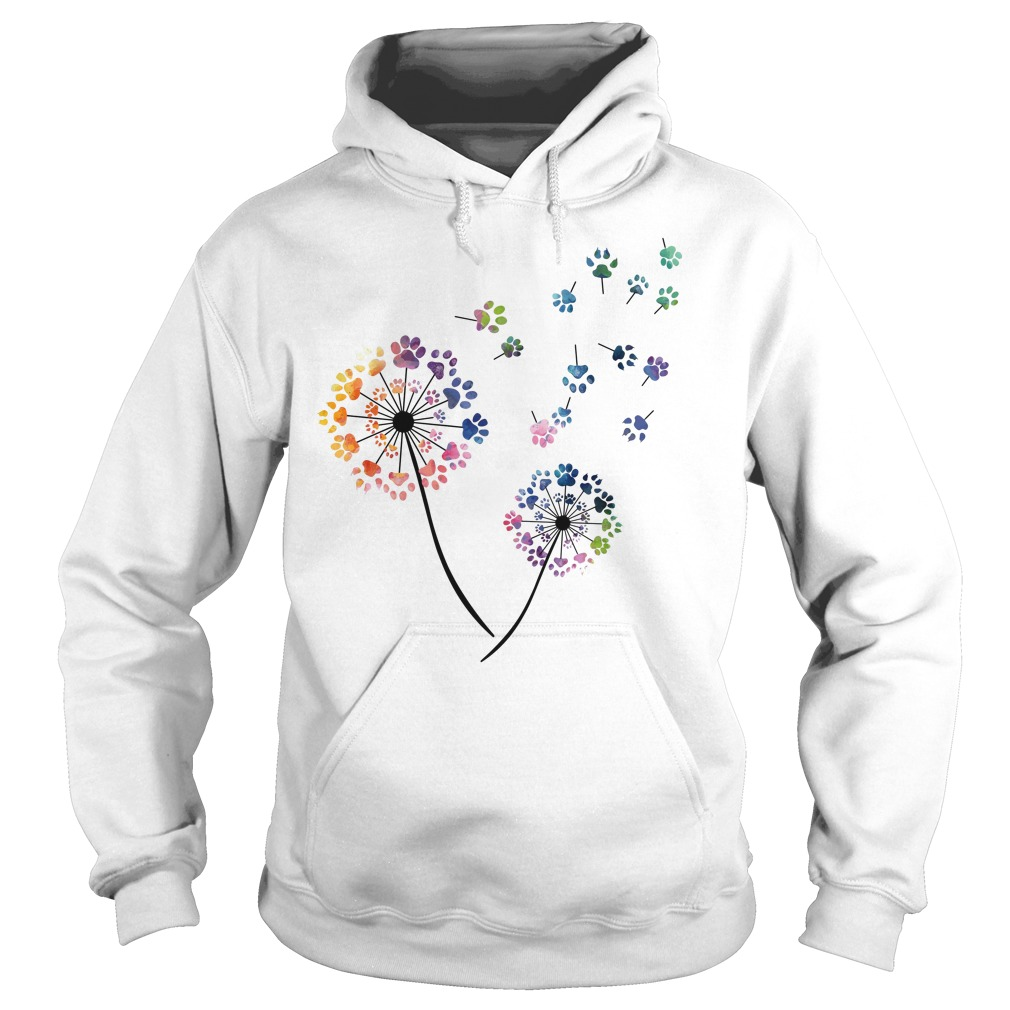 Dog paws flower fly Hoodie
