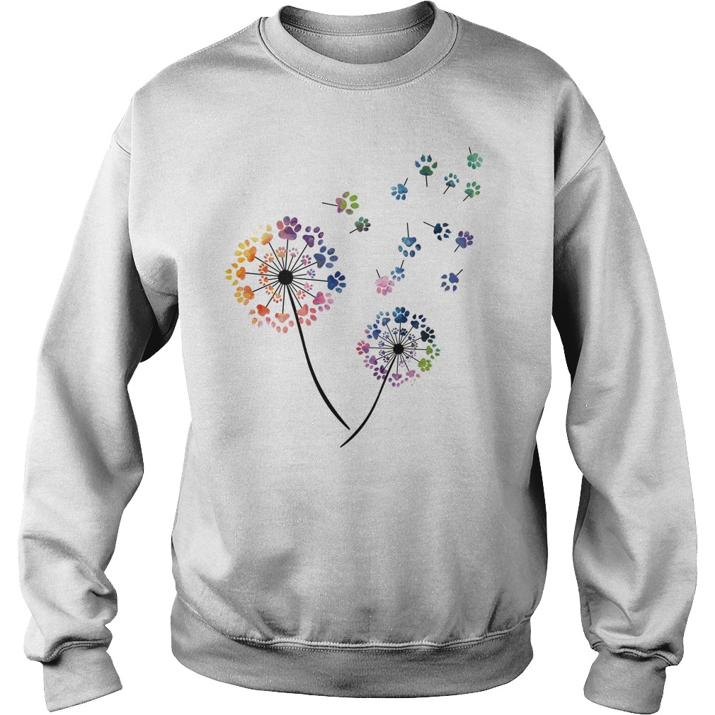 Dog paws flower fly Sweater