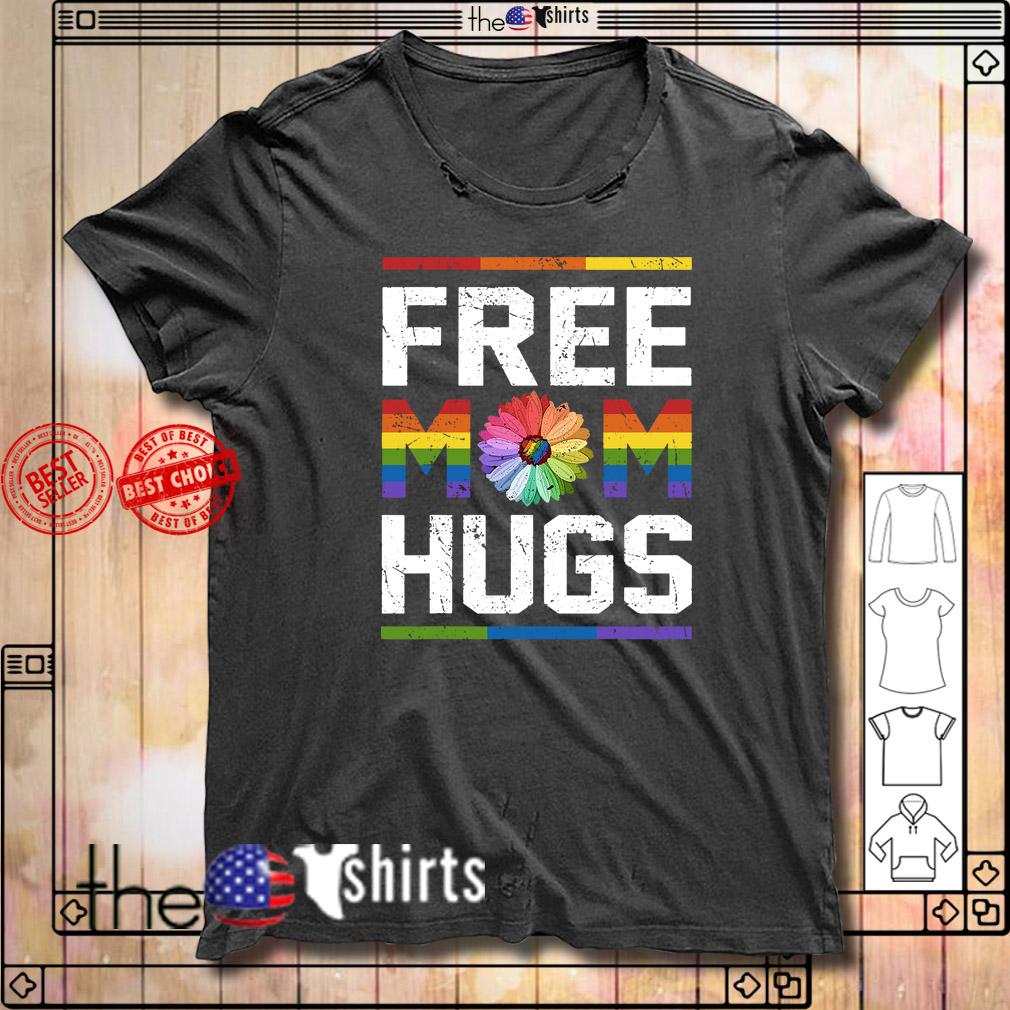 Free mom hugs pride LGBT shirt