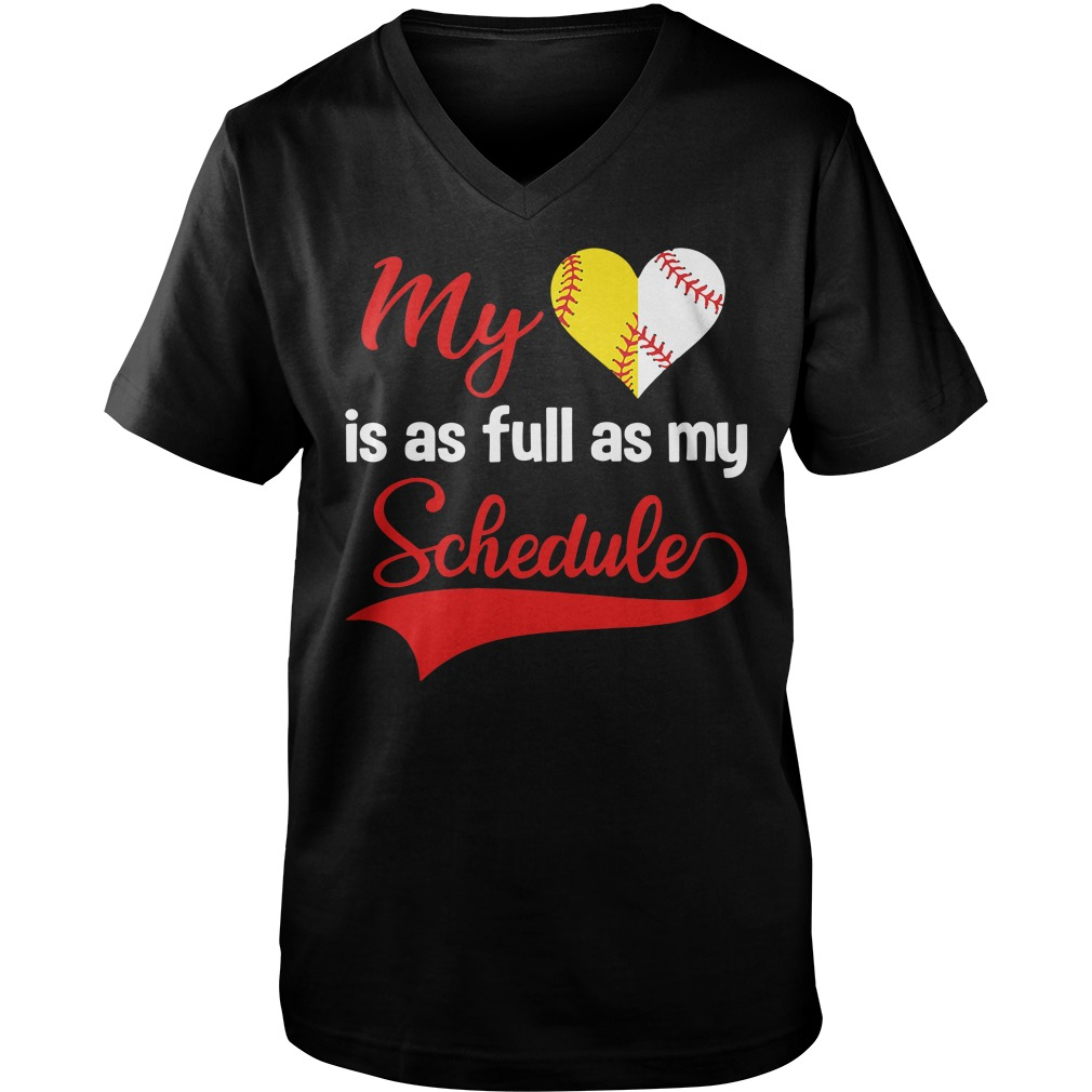 My is as full as my Schedule Guy V-Neck