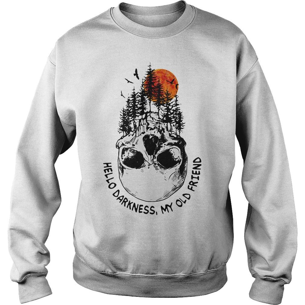 Hello darkness my old friend skull tree sunset Sweater
