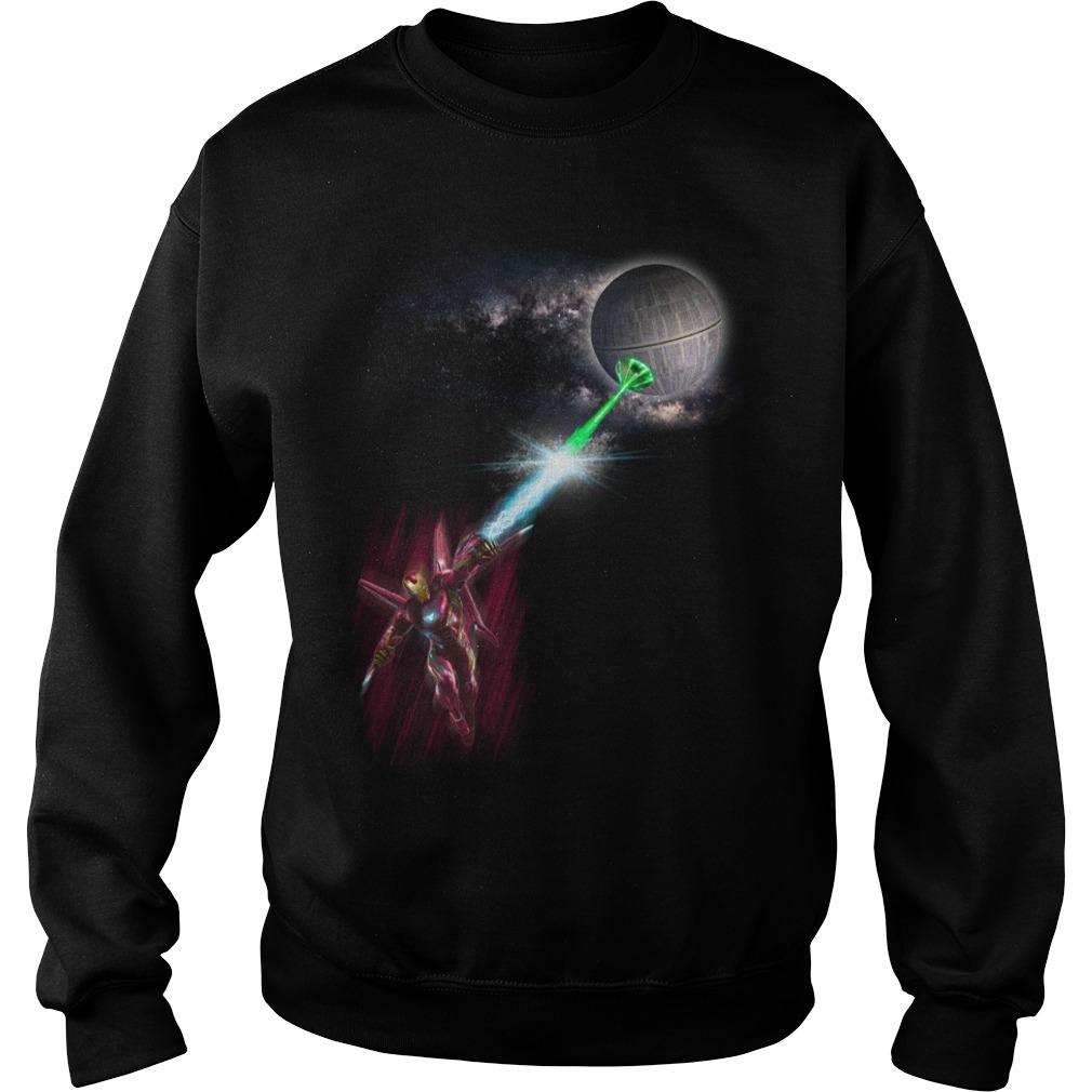 Iron Man vs Death Star Star Wars Sweater