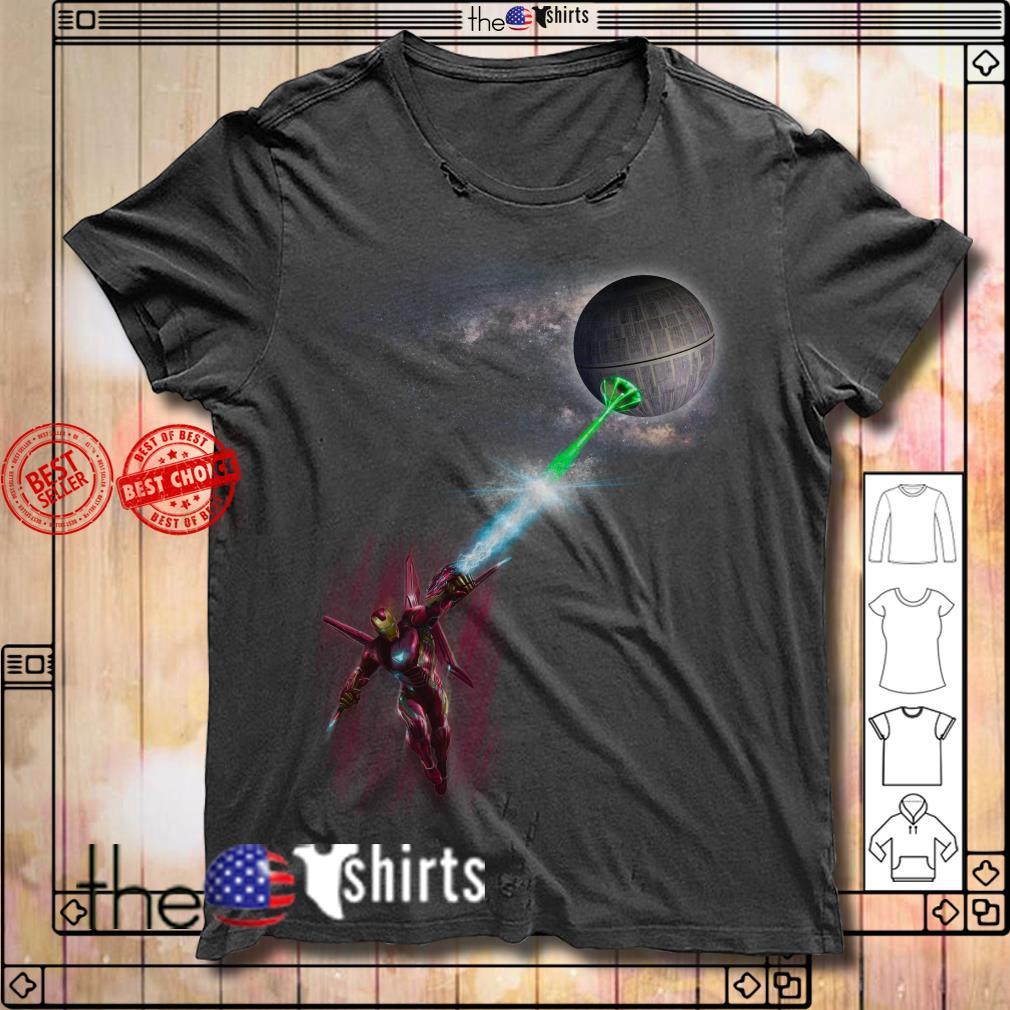 Iron Man vs Death Star Star Wars shirt