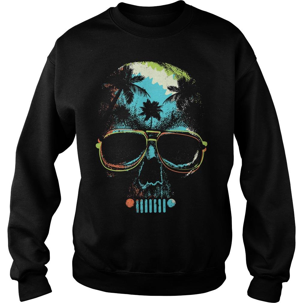 Jeep skull palm tree Sweater