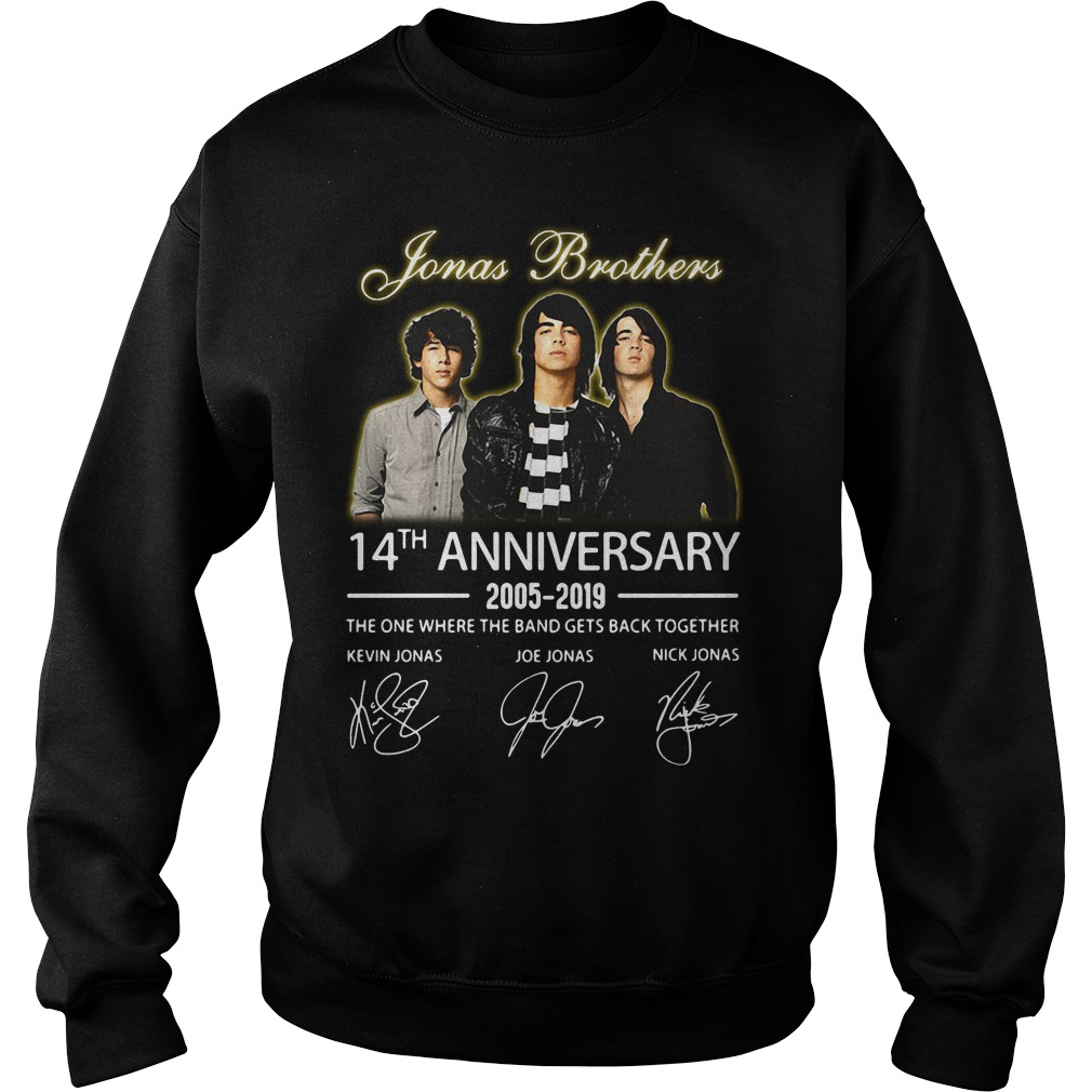 Jonas Brothers 14th anniversary 2005-2019 signature Sweater