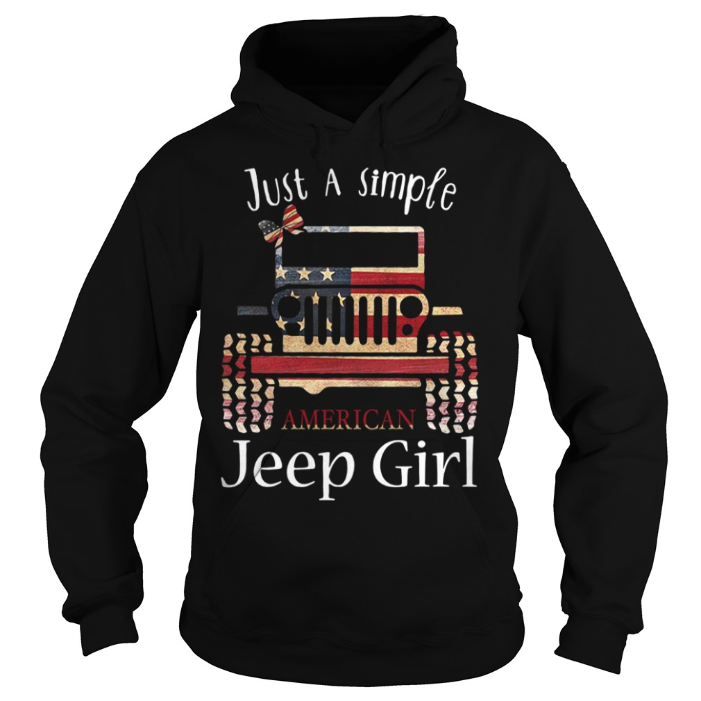 Just a simple American Jeep girl Hoodie