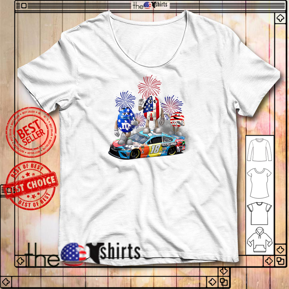 Kyle Busch M and M 18 hazelnut spread 4th of July independence day shirt