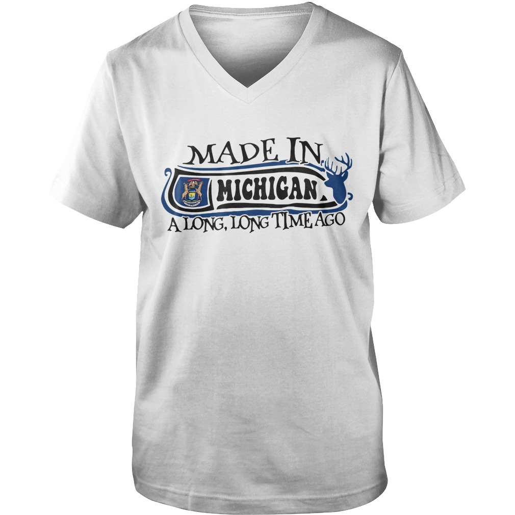 Made in Michigan a long long time ago Guy V-Neck