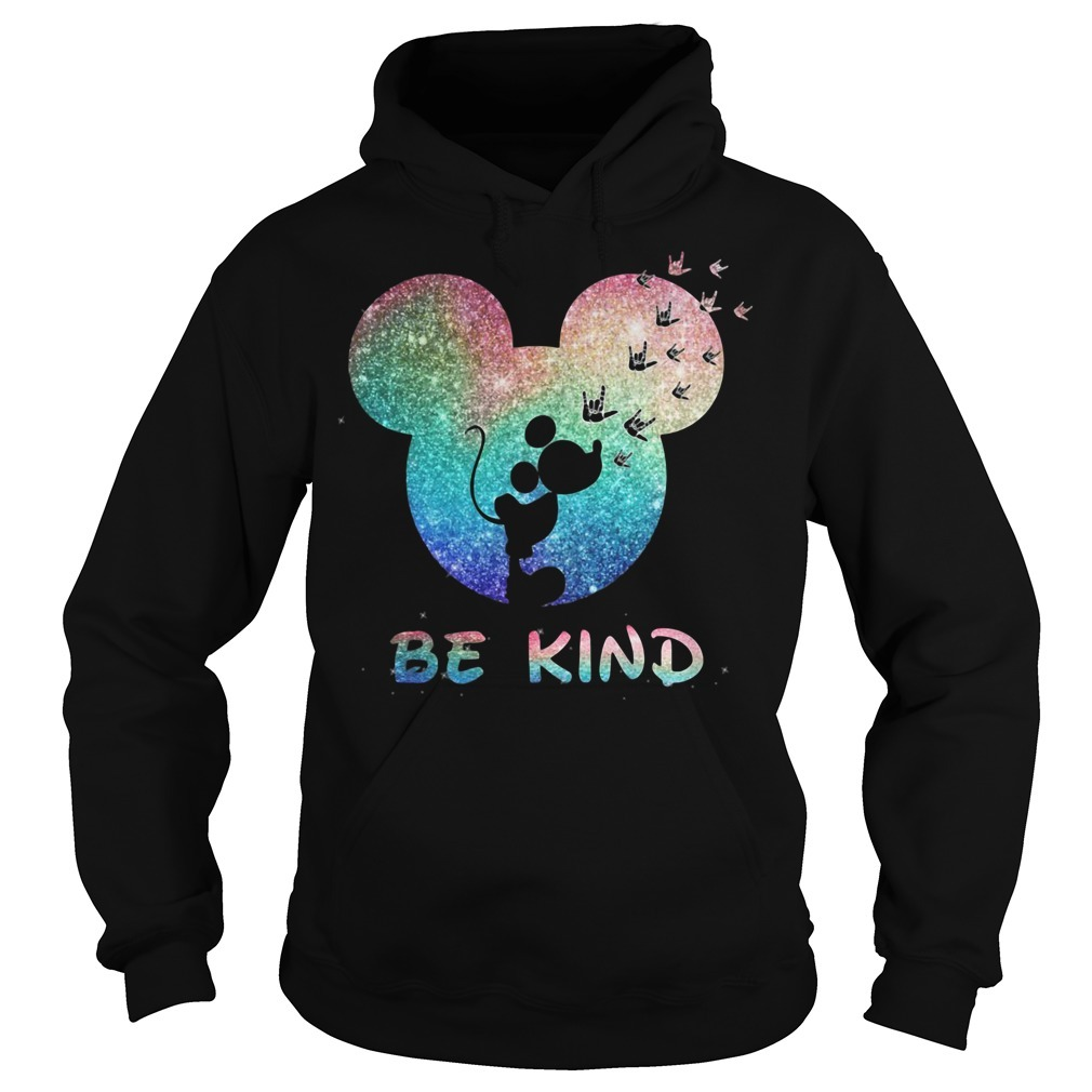 Mickey Mouse Disney love be kind Hoodie