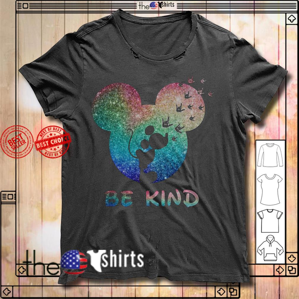 Mickey Mouse Disney love be kind shirt