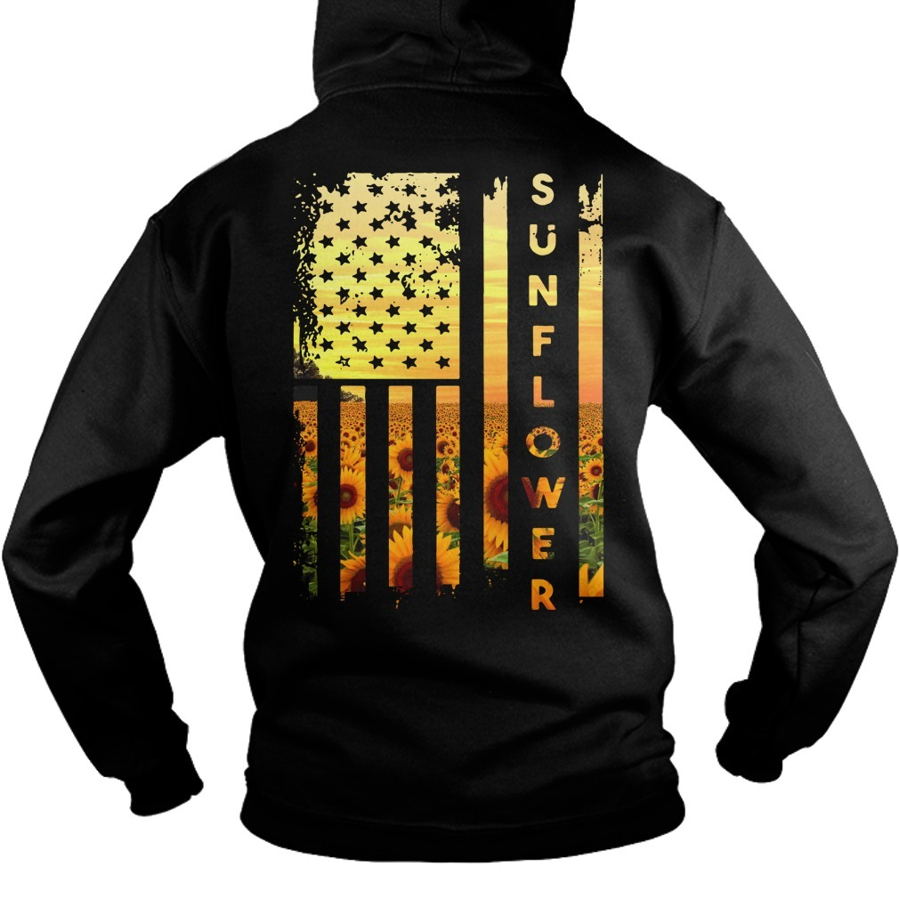 Official sunflower American flag Hoodie