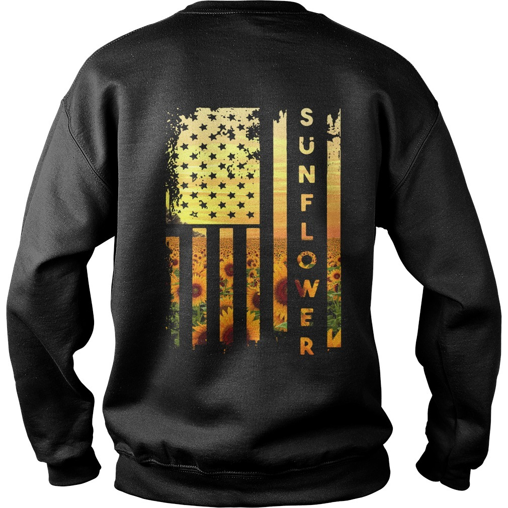 Official sunflower American flag Sweater