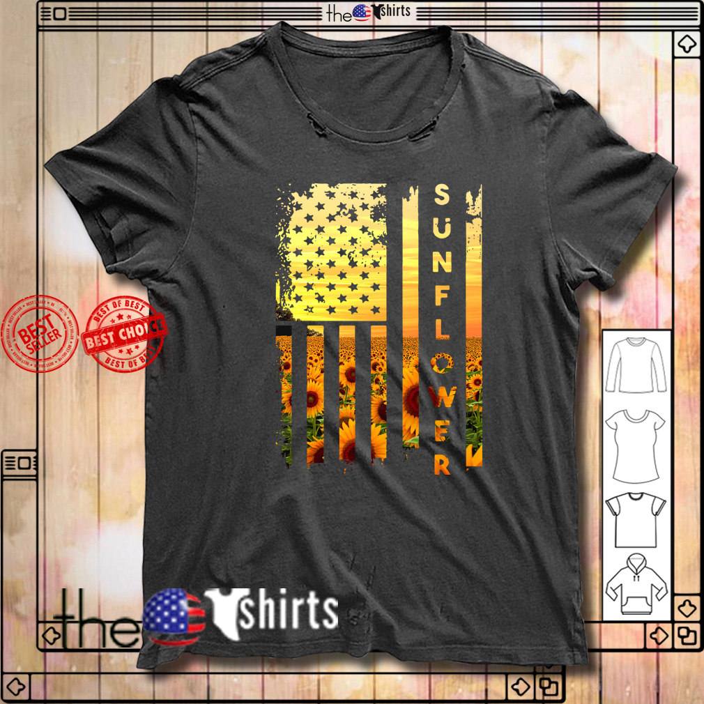 Official sunflower American flag shirt