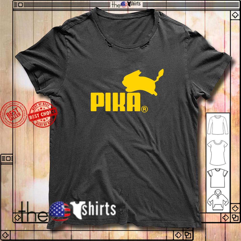 Pika Pikachu Pokemon go funny puma parody shirt