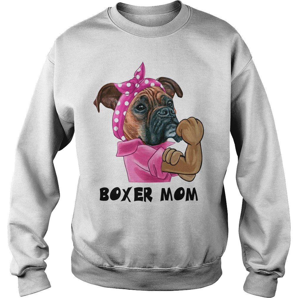 Pulldog with bandana boxer mom strong mom Sweater