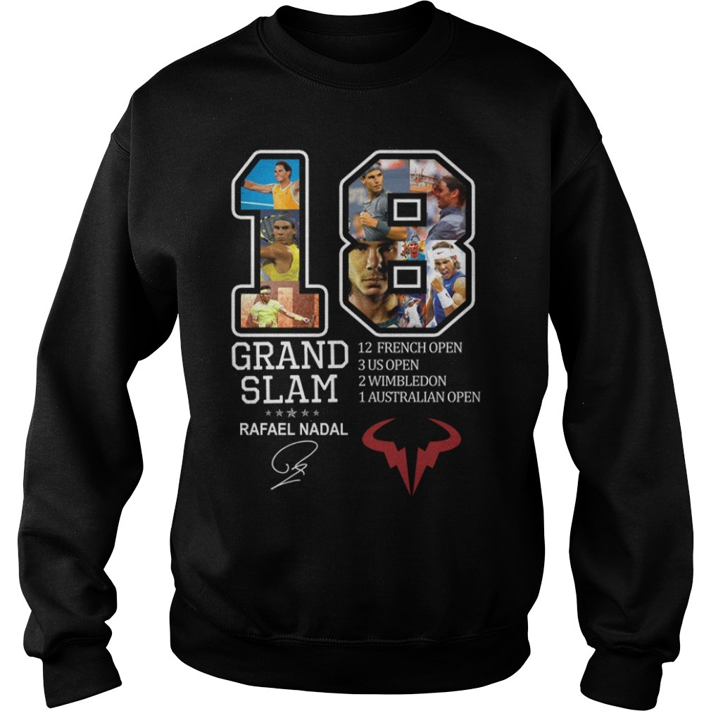Rafael Nadal 18 Grand Slam 12 French open signature Sweater