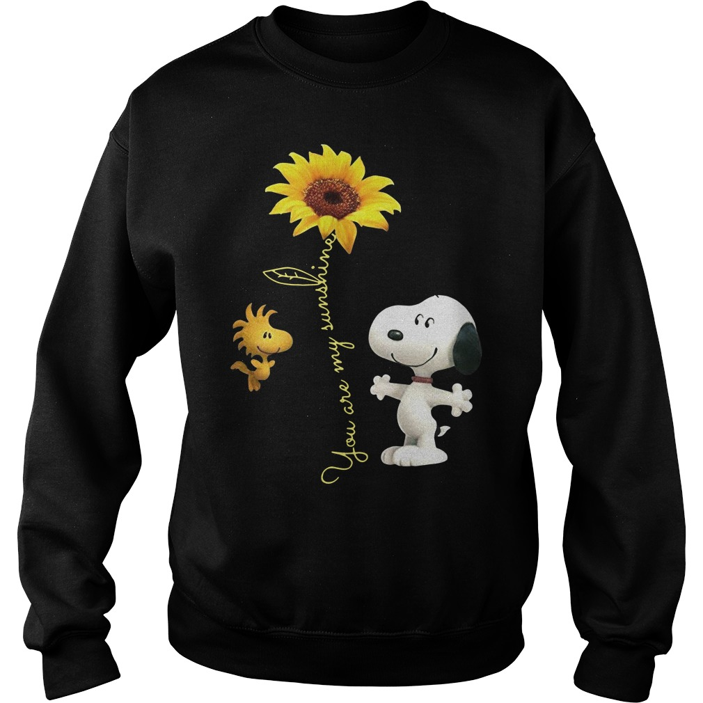 Snoopy and woodstock sunflower you are my sunshine Sweater