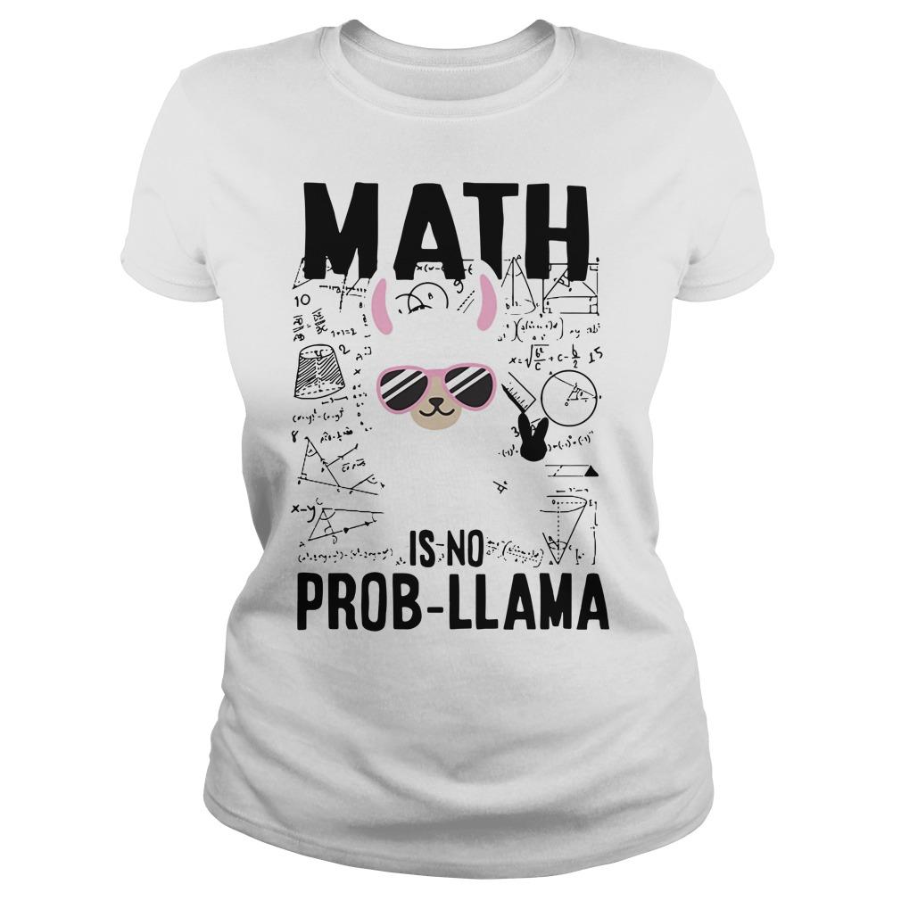 Teacher's day math is no prob-llama Ladies Tee