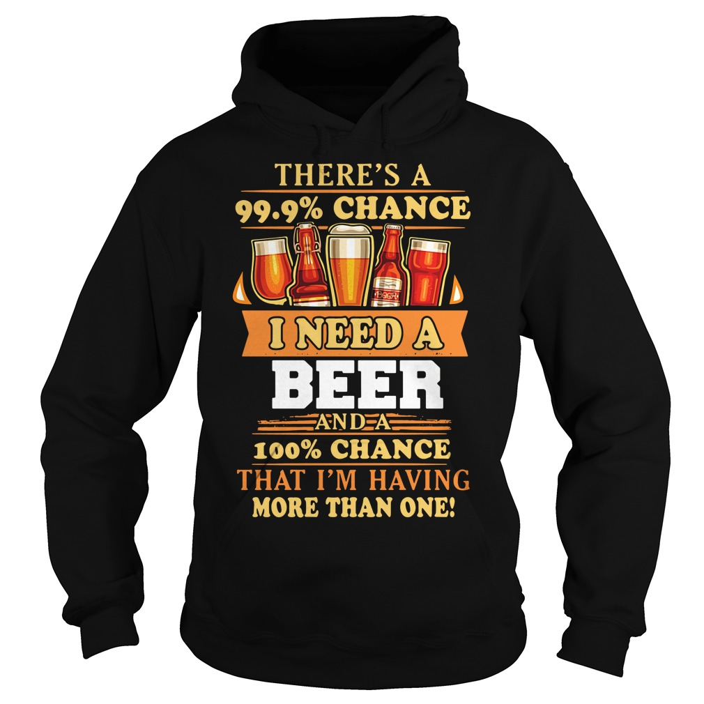 There's a 99.9% chance I need a beer and a 100% chance that I'm having more than one Hoodie