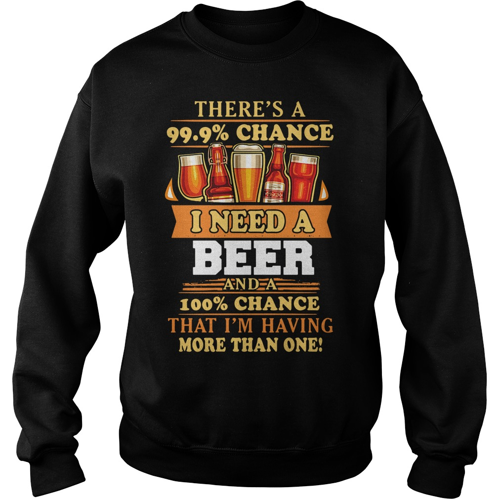 There's a 99.9% chance I need a beer and a 100% chance that I'm having more than one Sweater
