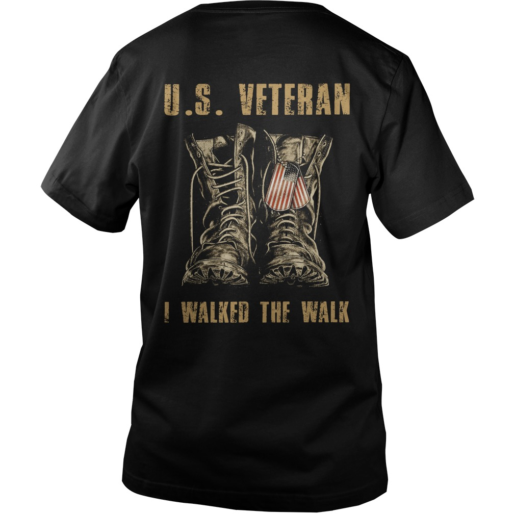U.S. Veteran I walked the walk Guy V-Neck