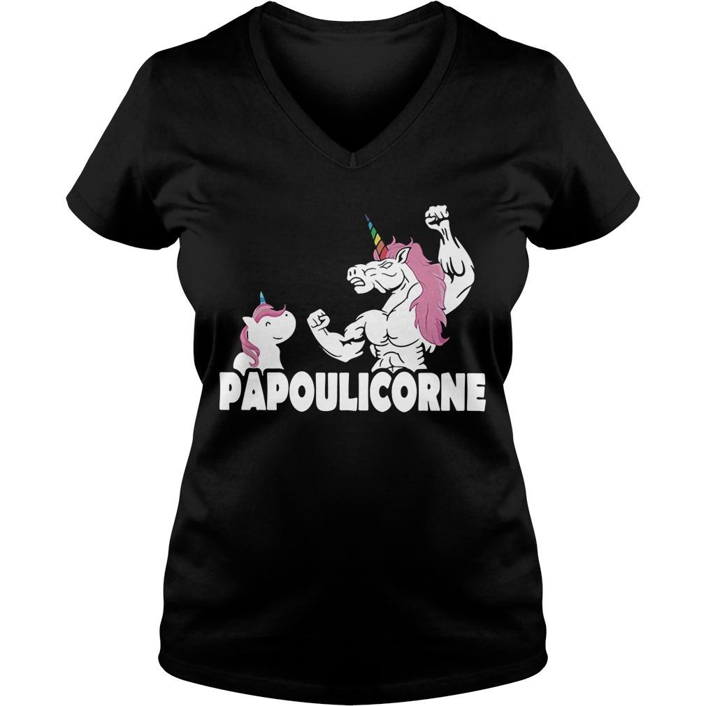 Unicorn Papoulicorne V-neck T-shirt