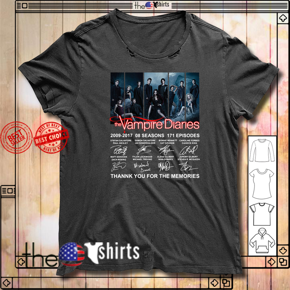 The Vampire Diaries 2009-2017 08 seasons 171 episodes signature shirt