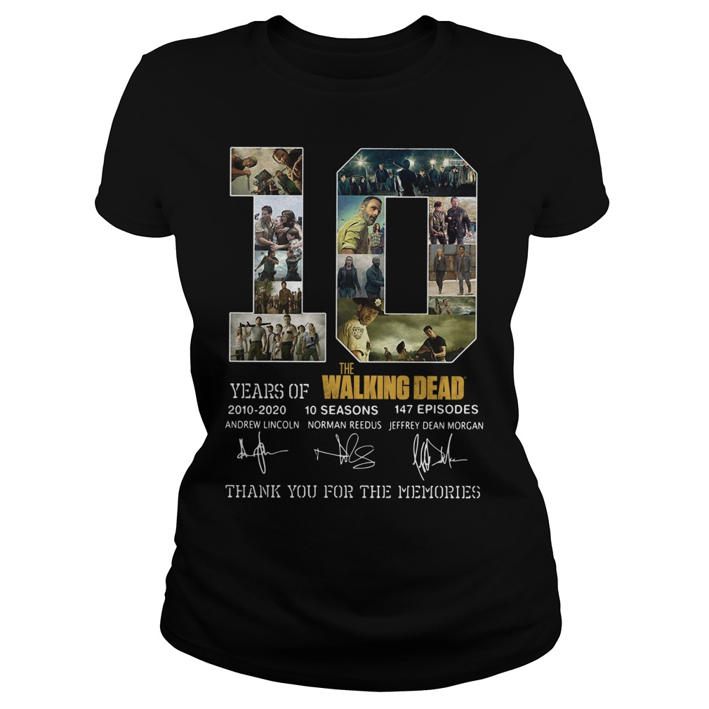 10 Years of The Walking Dead 2010 2020 10 seasons 147 episodes shirt