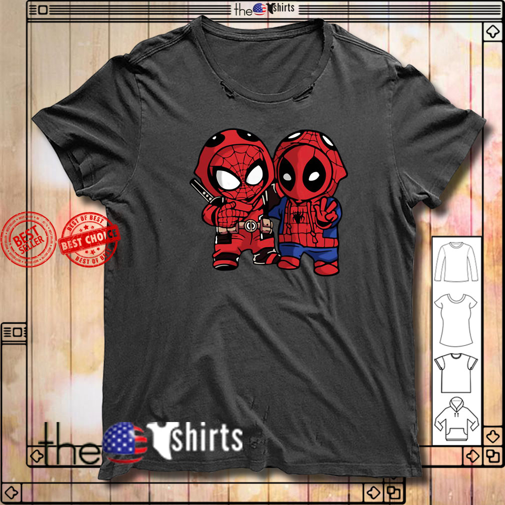 Baby Deadpool and Spider-Man shirt