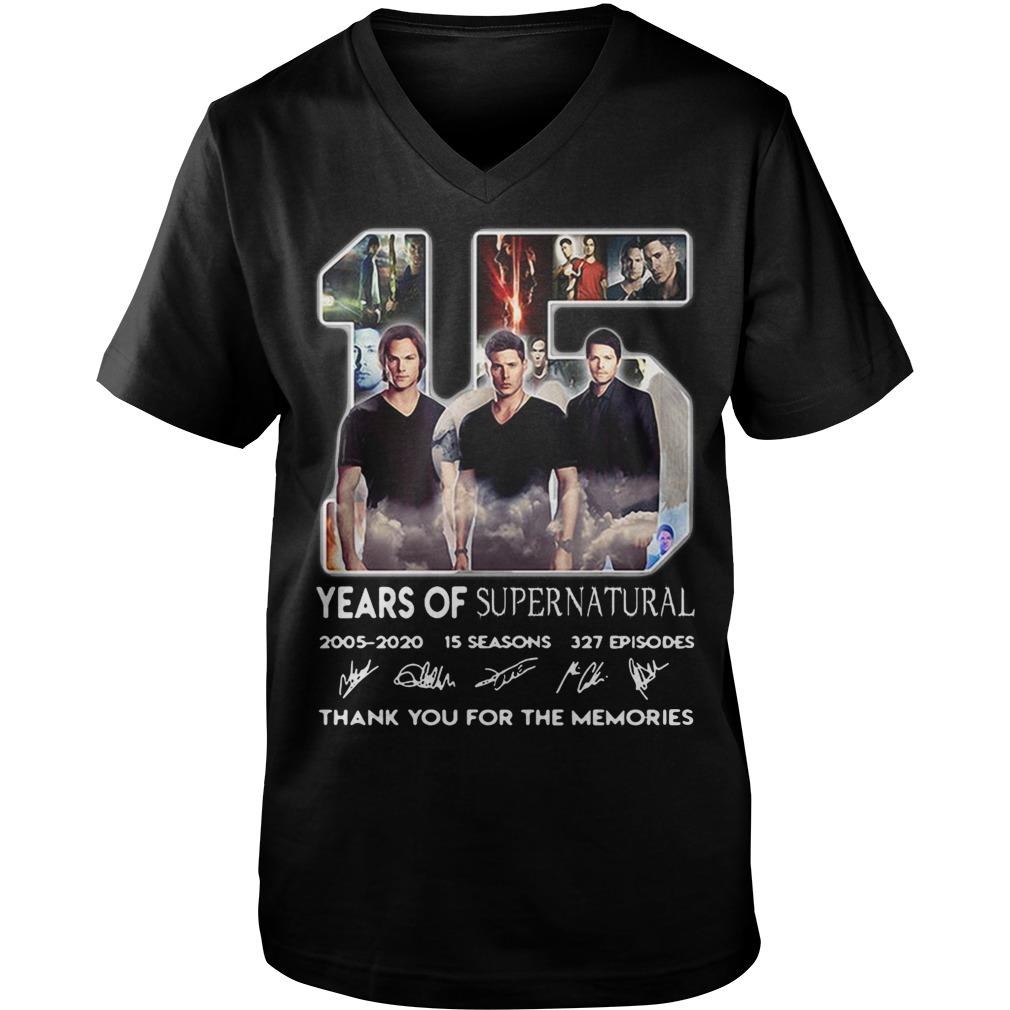 15 Years of Supernatural 2005-2020 15 seasons 327 episodes signature Guy V-Neck