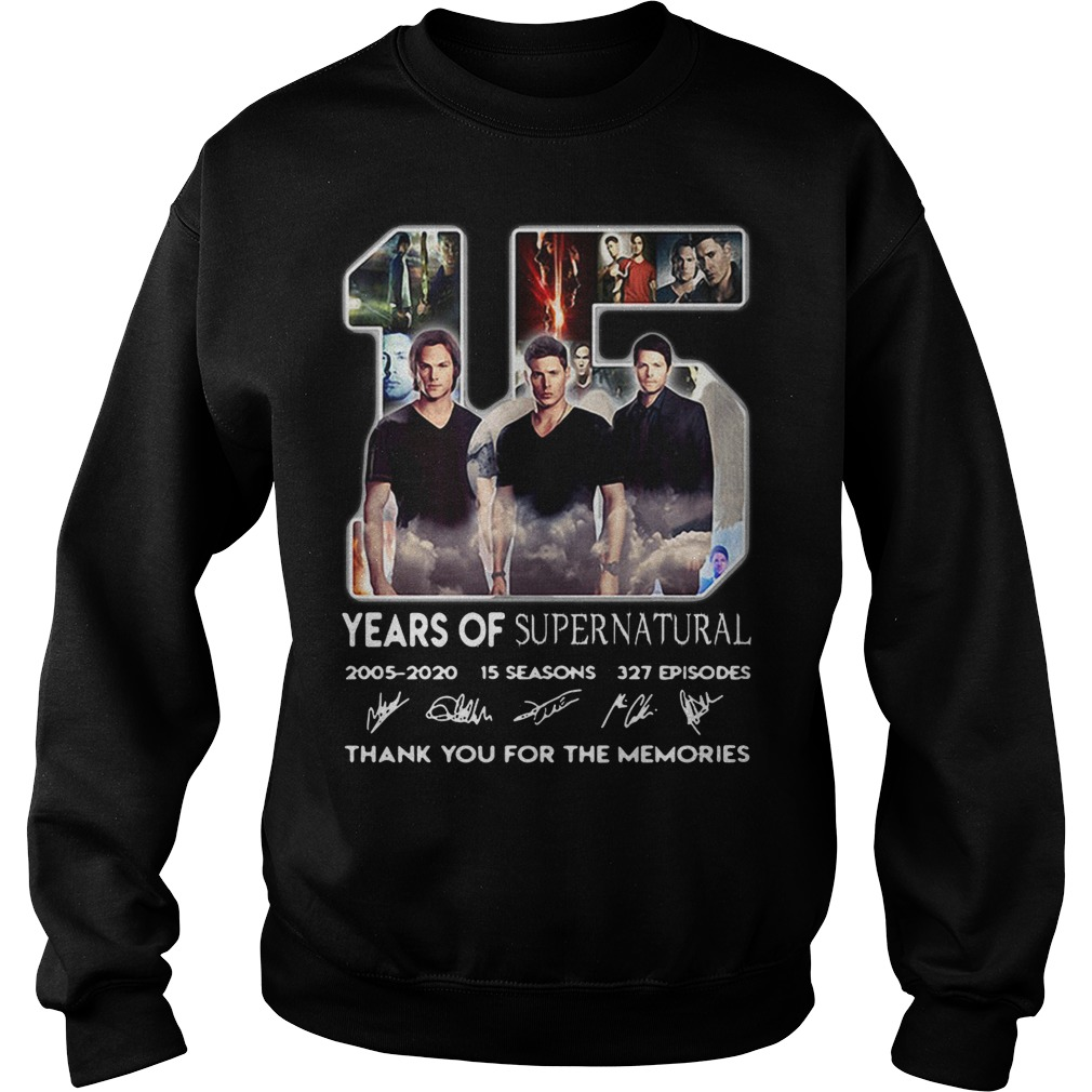 15 Years of Supernatural 2005-2020 15 seasons 327 episodes signature Sweater