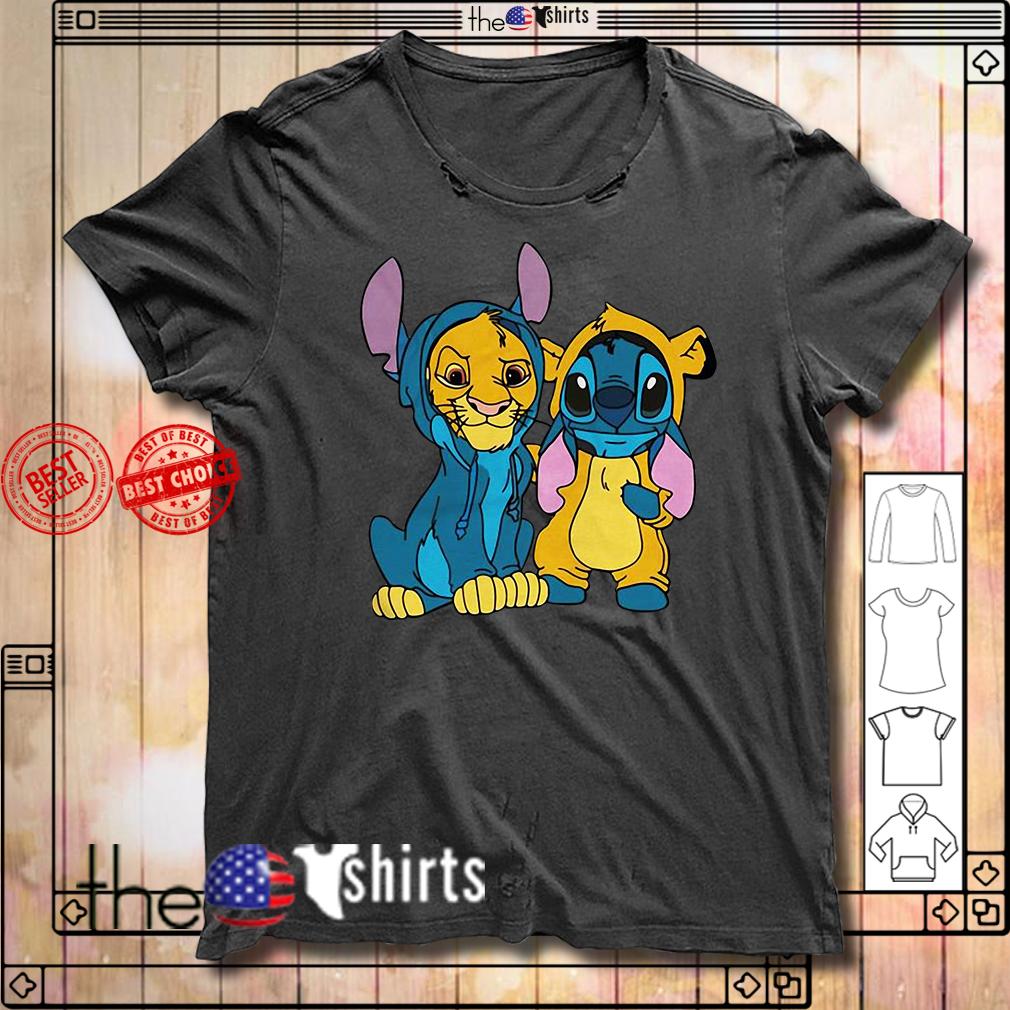 Baby Simba and Stitch best friend shirt
