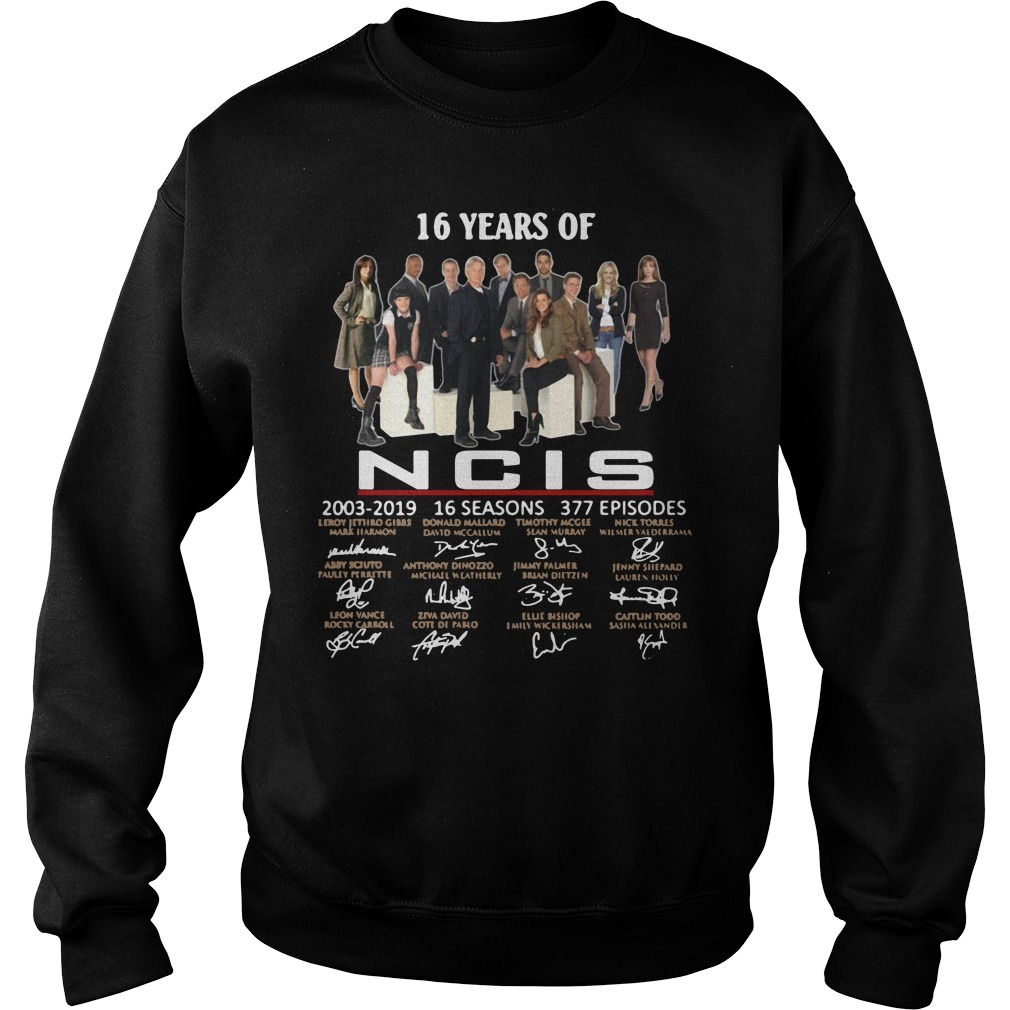 16 years of NCIS 2003-2019 16 seasons 377 episodes signature Sweater