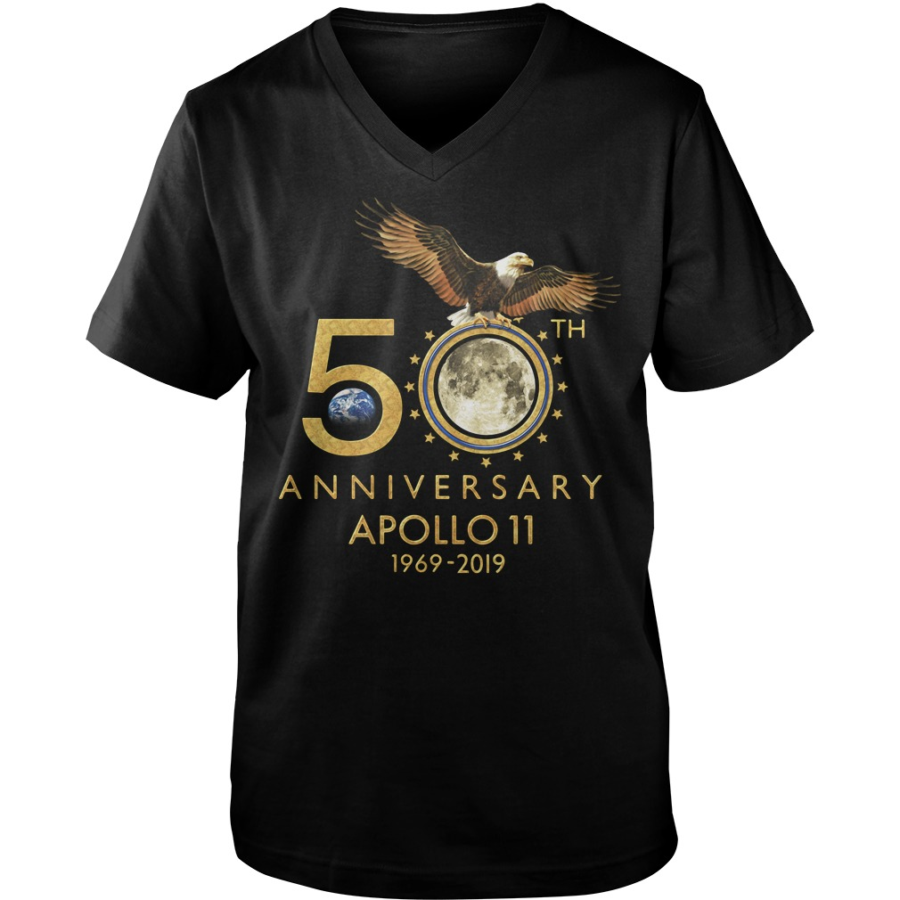 1969-2019 50th Anniversity Apollo 11 Guy V-Neck