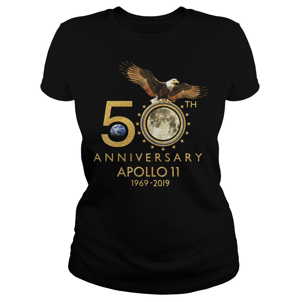 1969-2019 50th Anniversity Apollo 11 Ladies Tee