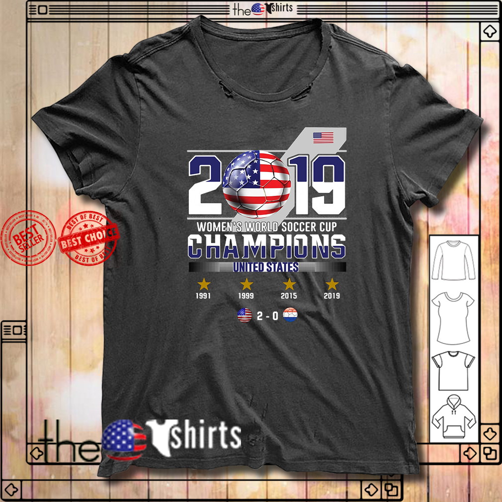 2019 Women's World Soccer Cup Champions United States shirt